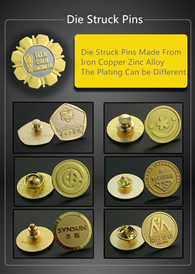 Die Struck Pins