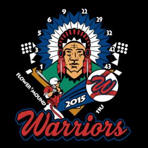 flower-mound-warriors-custom-baseball-pins