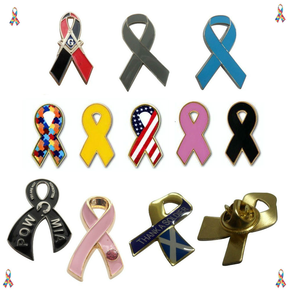 Breast Cancer Ribbon Pins