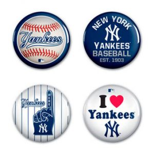 New York Yankees Print Button Lapel Pins