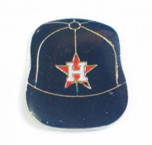 hat shape houston astros lapel pins