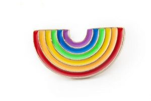 rainbow shape enamel pin