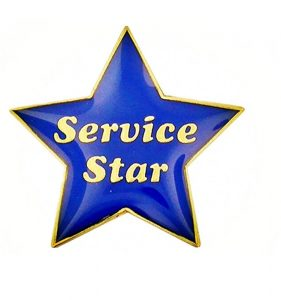 soft enamel service star pins