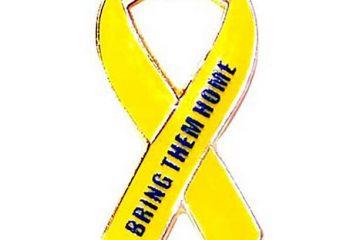 yellow ribbon pins