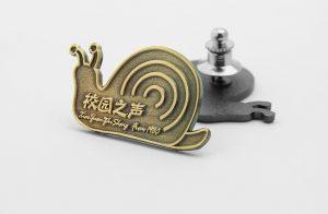 Antique Snail Lapel Pins
