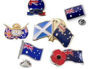 Australian enamel lapel pins