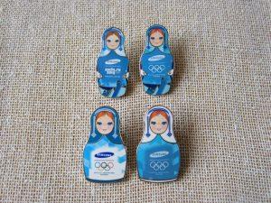Russian Nesting Doll Enamel Pins