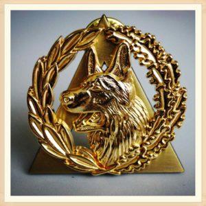 Gold Wolf Pins