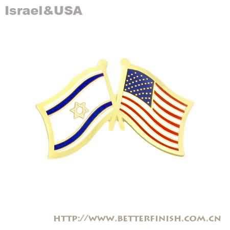 Israel_usa_flag_pin