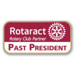 Red Interact Rotaract Printed Title Pins
