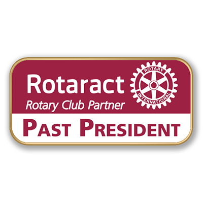Interact Rotaract Printed Title Pins with taglines