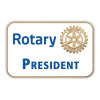 Rotary President Print Pins