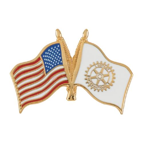 US Rotary Flag Pins
