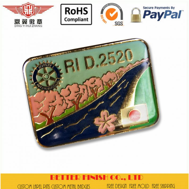 Rotary Soft Enamel Pins