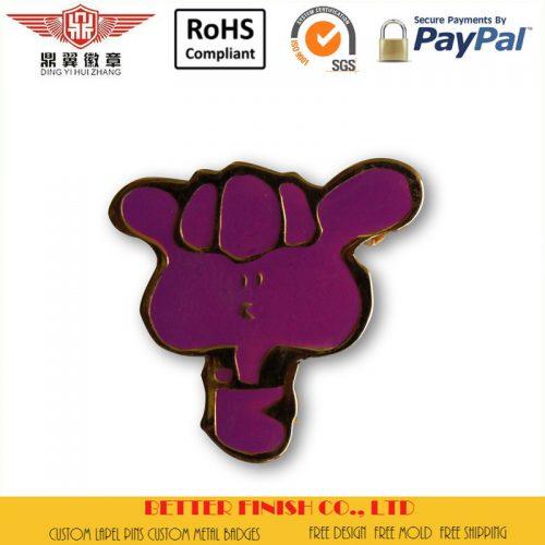 purple thumb soft enamel lapel pins