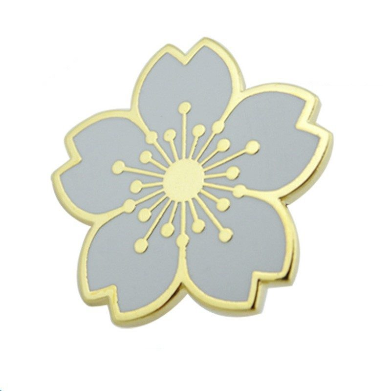 Grey flower pins