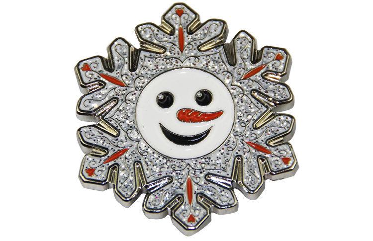 Snow man glitter pins