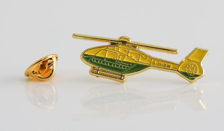 Helicopter enamel pins