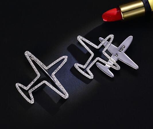 Silver shinny airplane pins