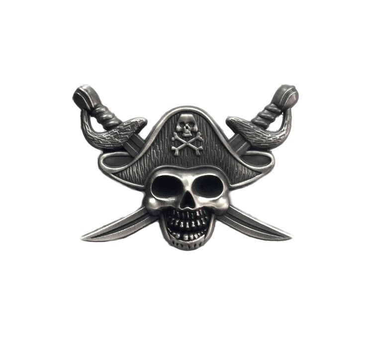 Pirate Custom Skull Lapel Pins