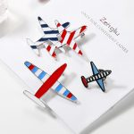 Colorful Mini Airplane Brooch Pin