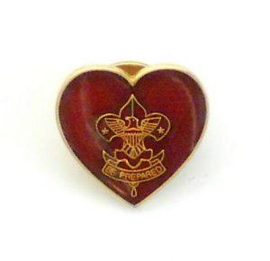 Transparent red scout enamel lapel pins