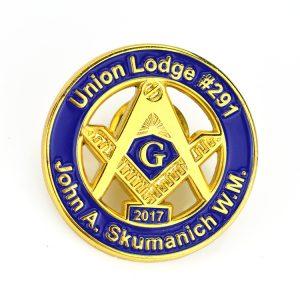 union lodge pins