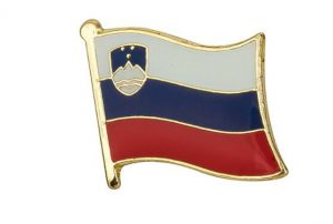 Slovenia Enamel Flag Pins
