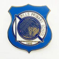blue custom high school lapel pins