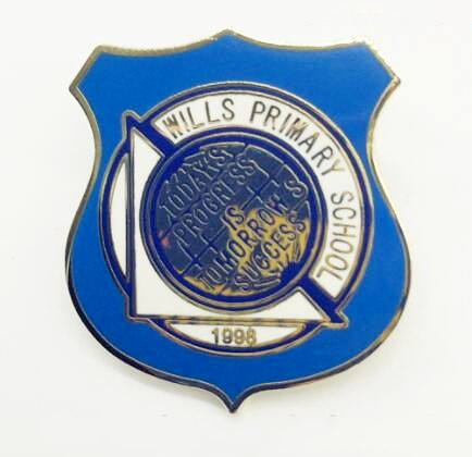 blue custom high school lapel pins