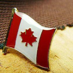 Canada flag enamel pins