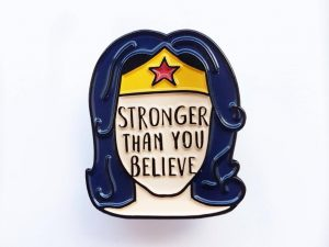 Mental Health Feminist Enamel Pins