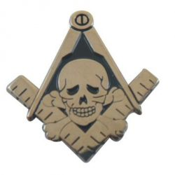 Skeleton Skull wholesale freemasonry masonic pins 100pcs