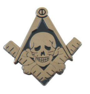 Skeleton Skull wholesale freemasonry masonic pins 100pcs