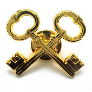 Key Shaped Custom Enamel Lapel Pins