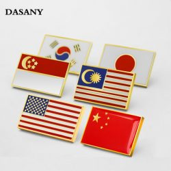 Round Flag Enamel Lapel Pins