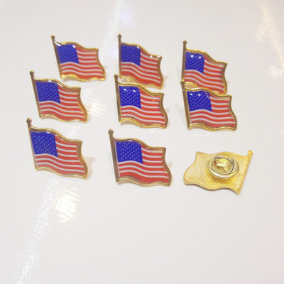 Two Countries Nation Friendly Flag Metal Lapel Pins