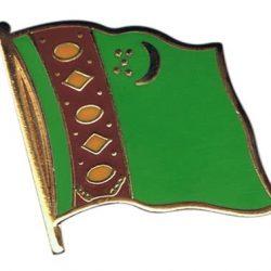 Turkmenistan Enamel Lapel Pins