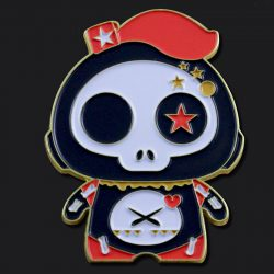 Cute Skull Enamel Pin