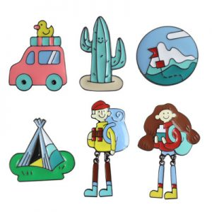 Girl Enamel Lapel Pins