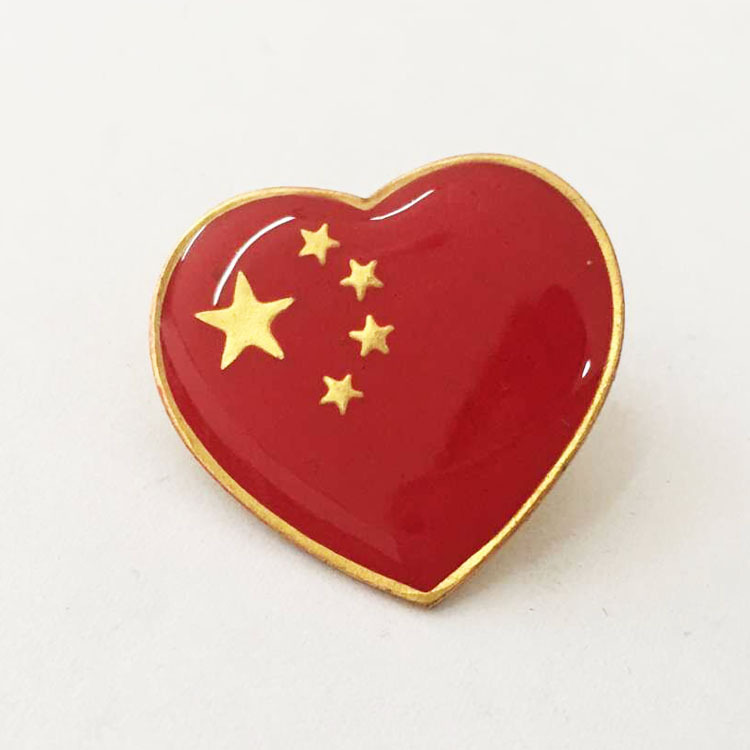 Chinese Flag Pins