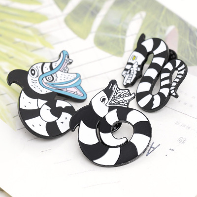 The meaning of the snake enamel lapel pins