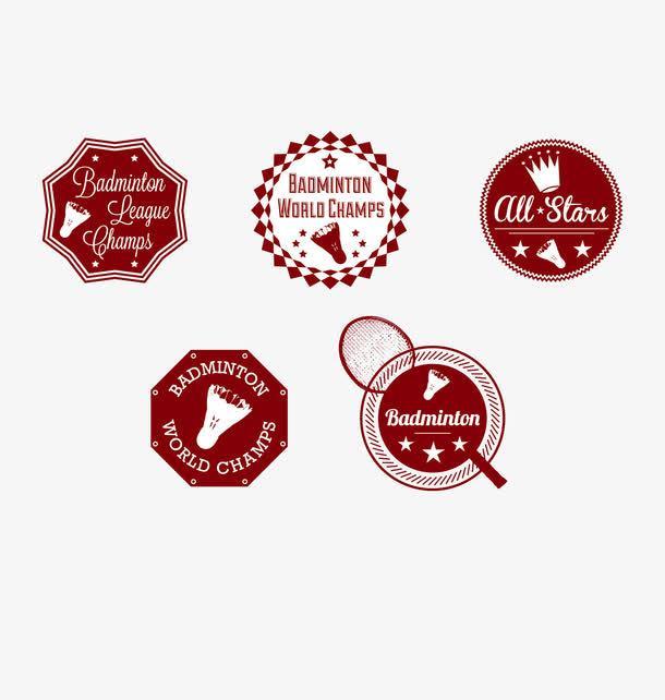 Badminton Enamel Lapel pins