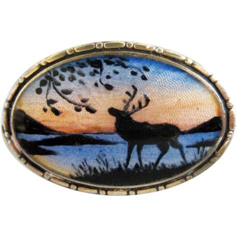 Running Elk Enamel Pins