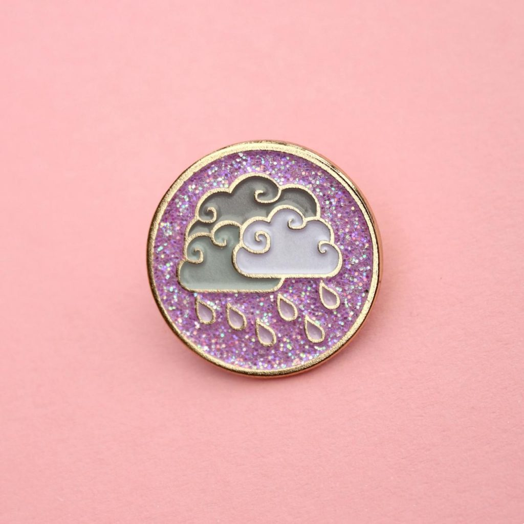 Enamel Pins in rainy season